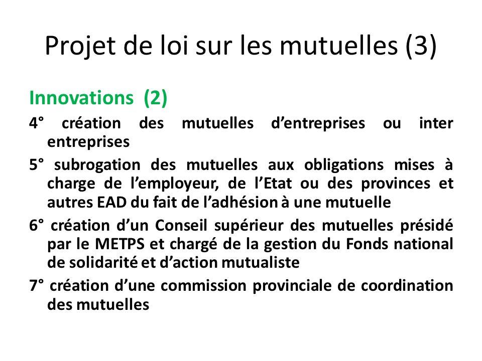 Projet de loi sur les mutuelles (3)