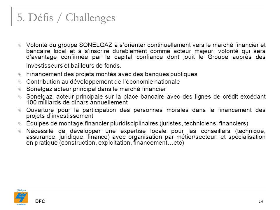 5. Défis / Challenges