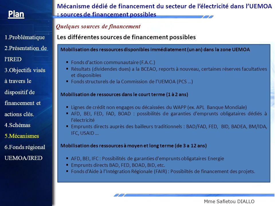 Mécanisme dédié de financement du secteur de l'électricité dans l'UEMOA : sources de financement possibles