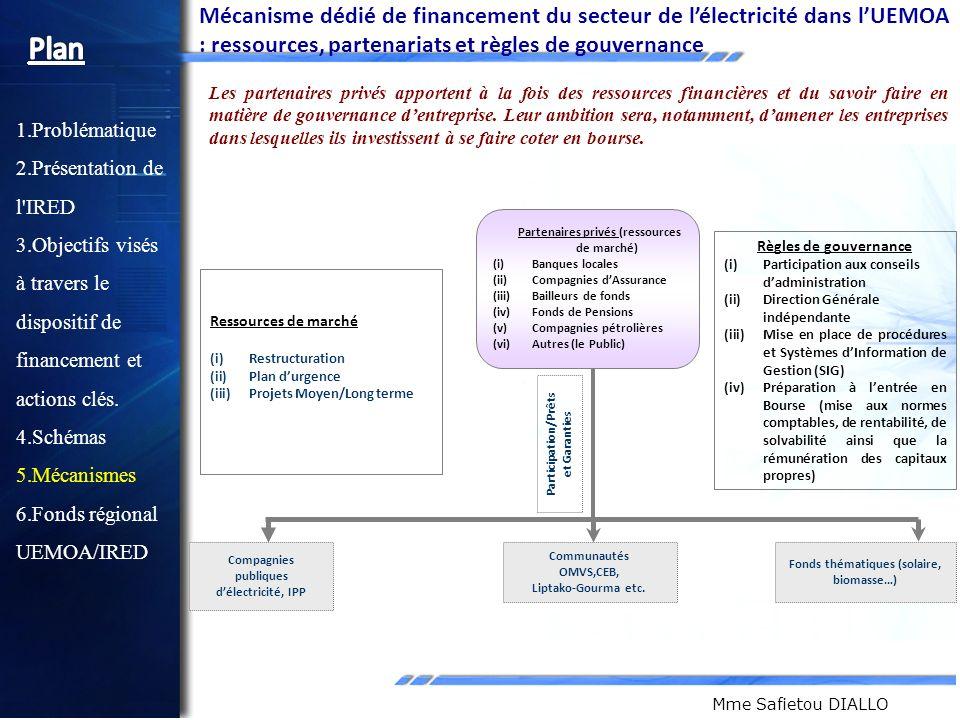 Mécanisme dédié de financement du secteur de l'électricité dans l'UEMOA : ressources, partenariats et règles de gouvernance