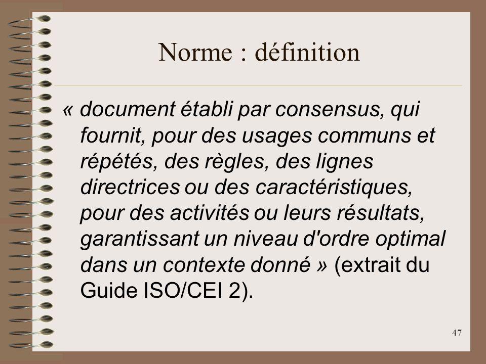 Norme : définition