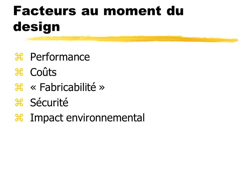 Facteurs au moment du design