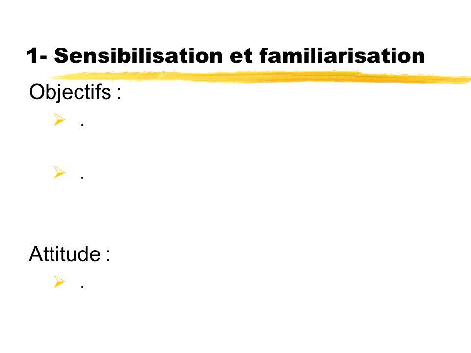 1- Sensibilisation et familiarisation