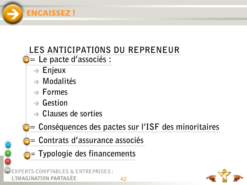 ANTICIPATIONS DU REPRENEUR (suite) = Audits préalables