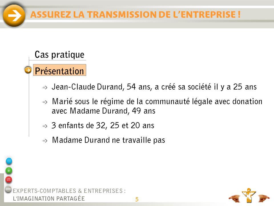 ASSUREZ LA TRANSMISSION DE L'ENTREPRISE !