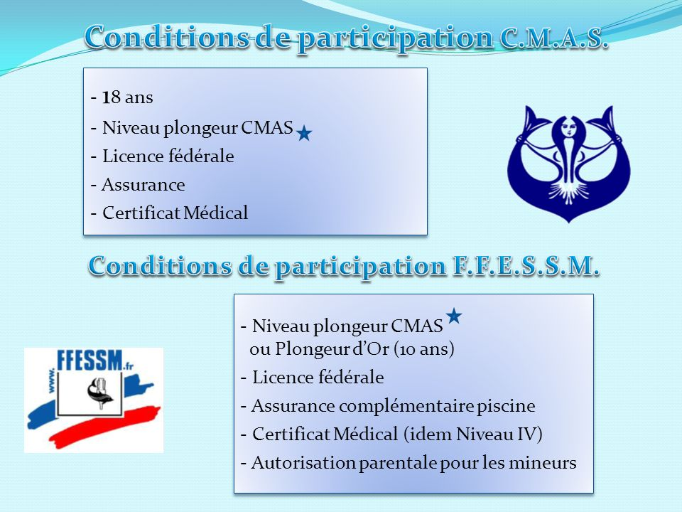 Conditions de participation C.M.A.S.