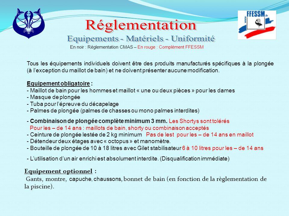 Equipements - Matériels - Uniformité