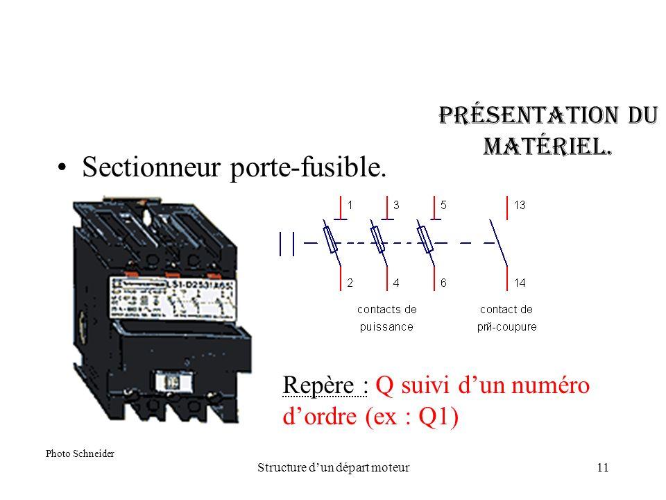 Structure d un depart moteur 1 sens de rotation ppt video online t l charger - Sectionneur porte fusible telemecanique ...