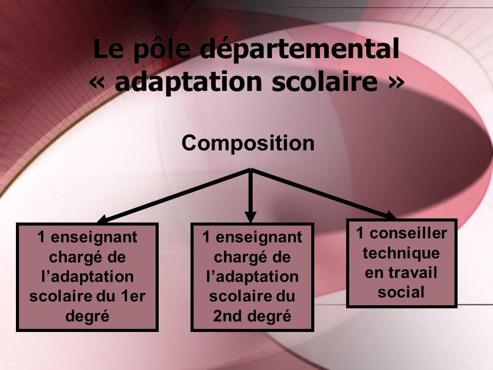 Le pôle départemental « adaptation scolaire »