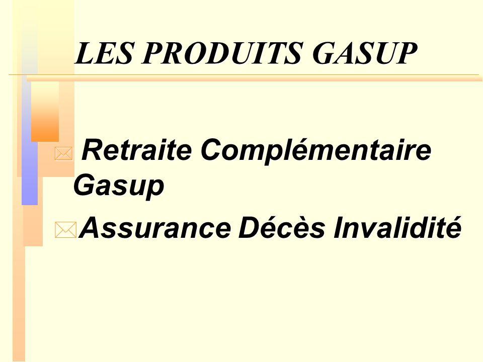 LES PRODUITS GASUP Assurance Décès Invalidité