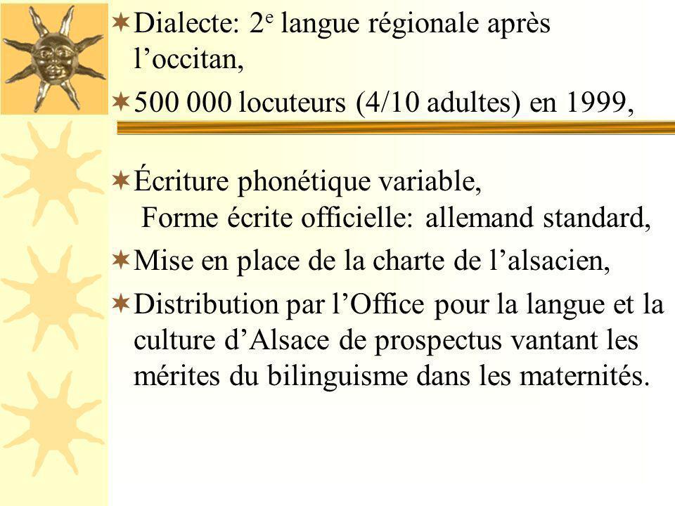 Dialecte: 2e langue régionale après l'occitan,