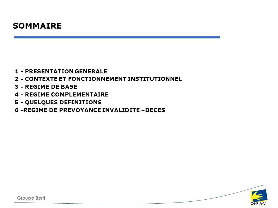 SOMMAIRE 1 - PRESENTATION GENERALE