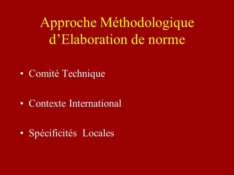 Approche Méthodologique d'Elaboration de norme