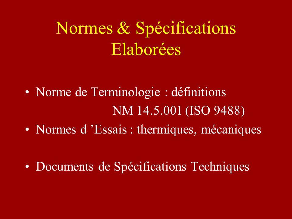 Normes & Spécifications Elaborées