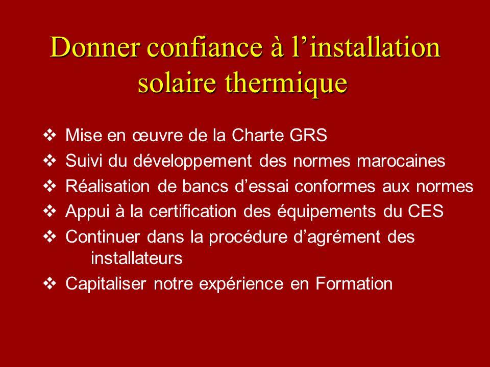 Donner confiance à l'installation solaire thermique