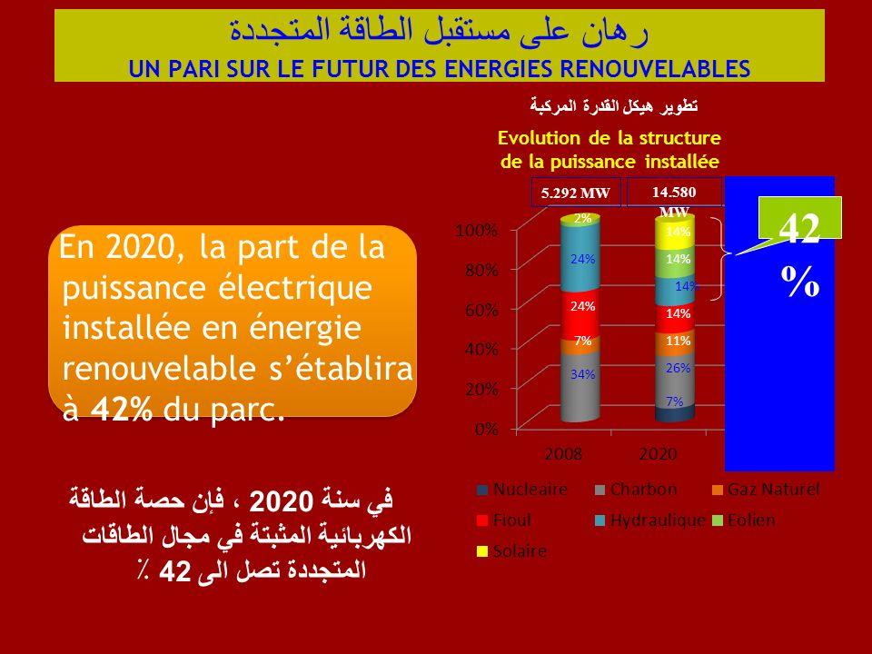 رهان على مستقبل الطاقة المتجددة UN PARI SUR LE FUTUR DES ENERGIES RENOUVELABLES