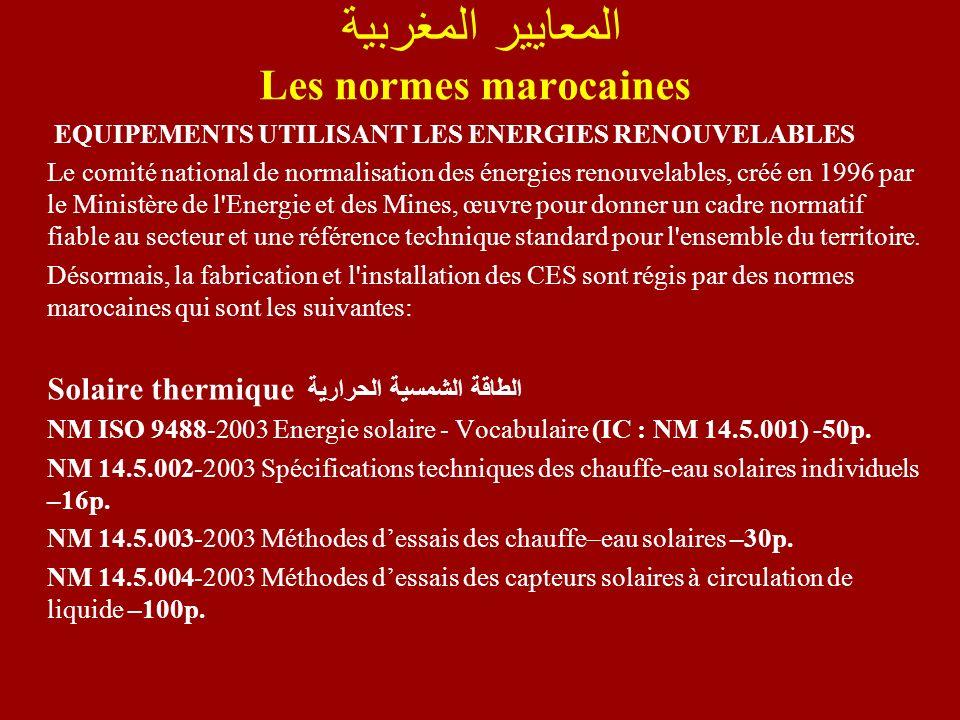 المعايير المغربية Les normes marocaines