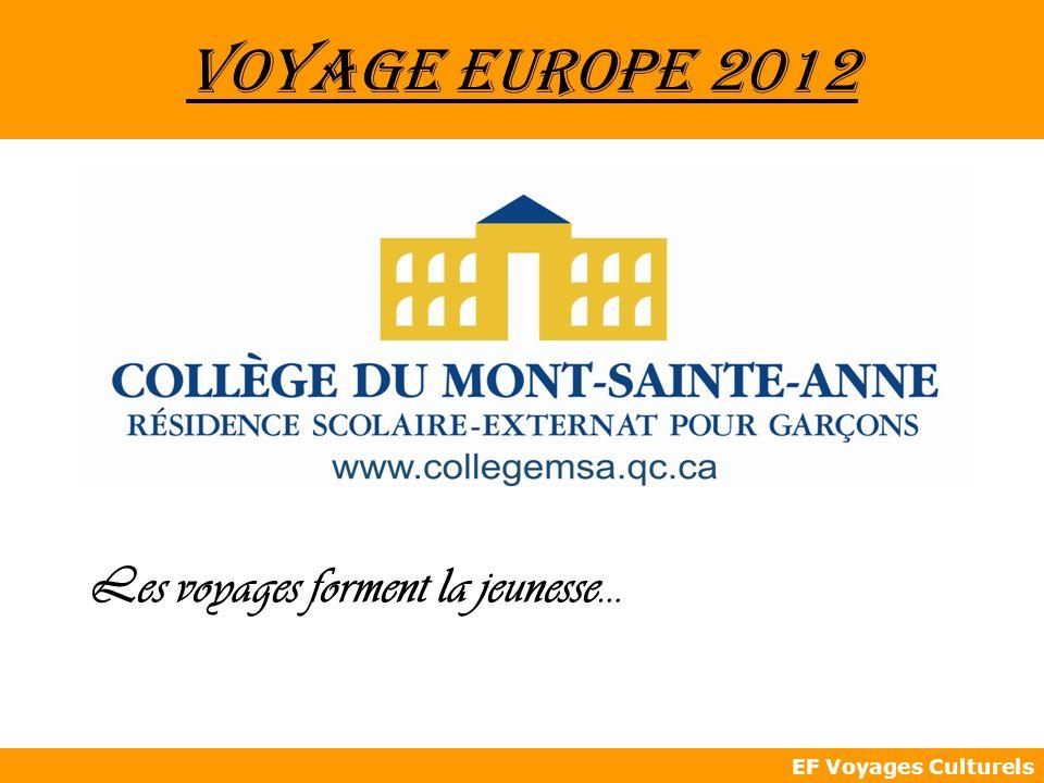 Voyage Europe 2012 Les voyages forment la jeunesse…