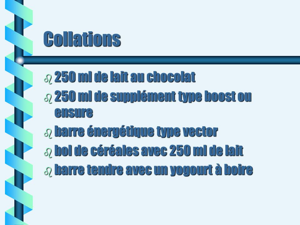 Collations 250 ml de lait au chocolat