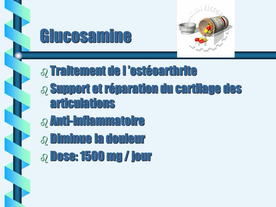 Glucosamine Traitement de l 'ostéoarthrite