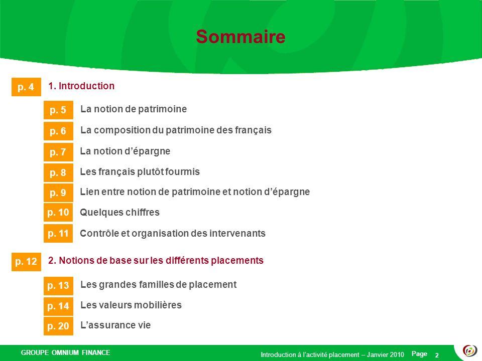 Sommaire p. 4 1. Introduction p. 5 La notion de patrimoine p. 6