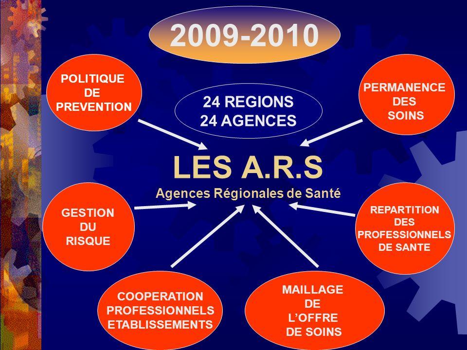 LES A.R.S Agences Régionales de Santé