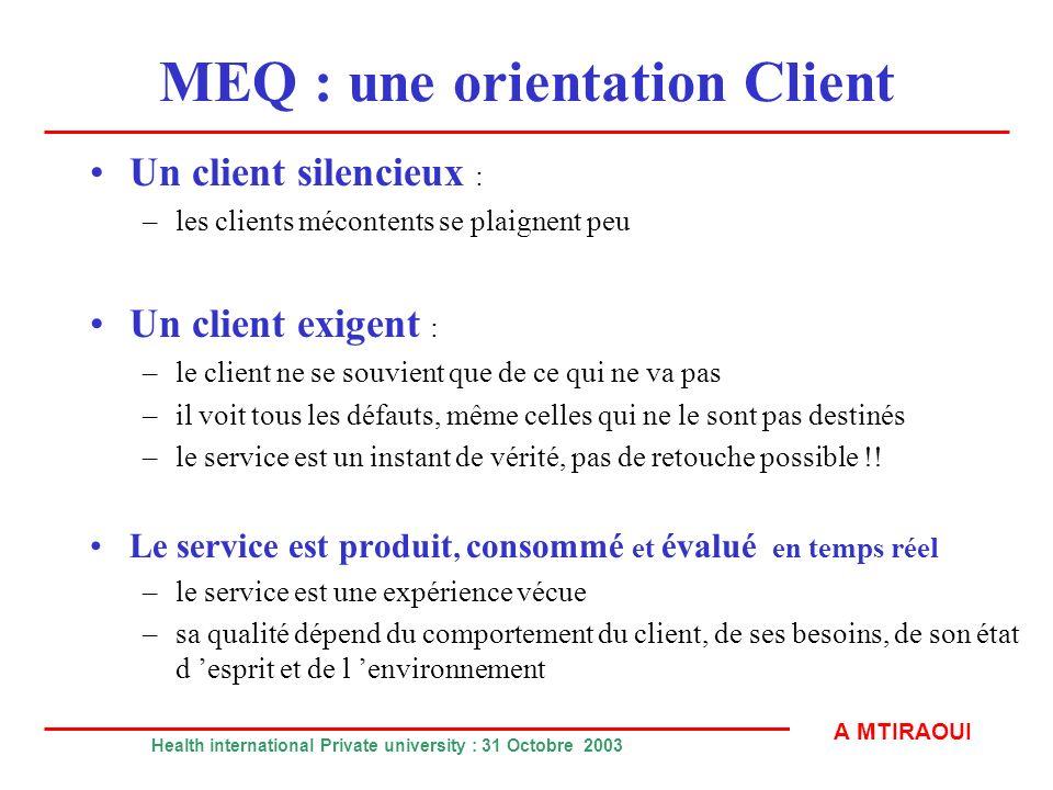 MEQ : une orientation Client