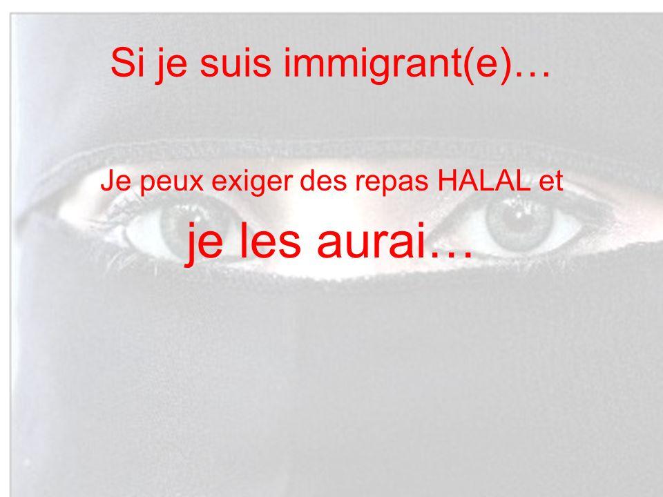 Si je suis immigrant(e)…