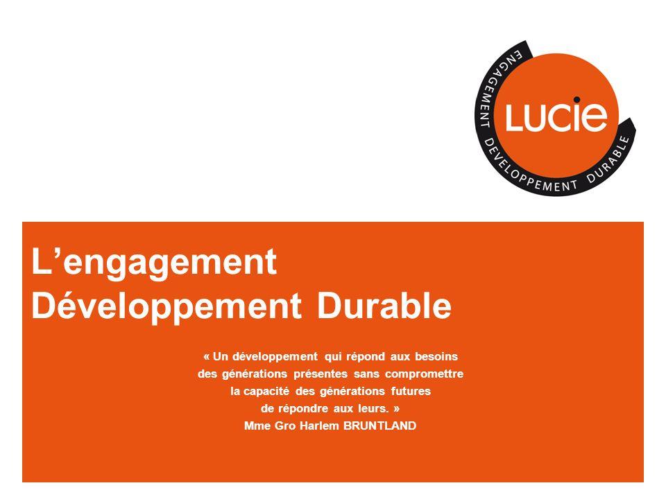 L'engagement Développement Durable