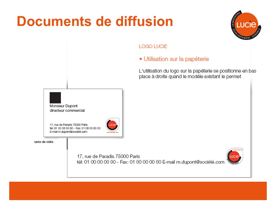Documents de diffusion