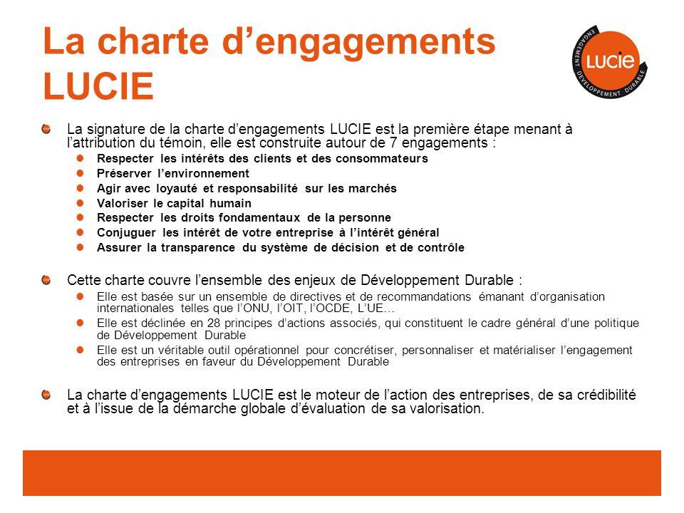 La charte d'engagements LUCIE