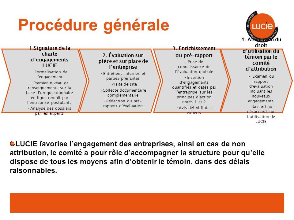 Procédure générale 2. Évaluation sur pièce et sur place de l'entreprise. Entretiens internes et parties prenantes.