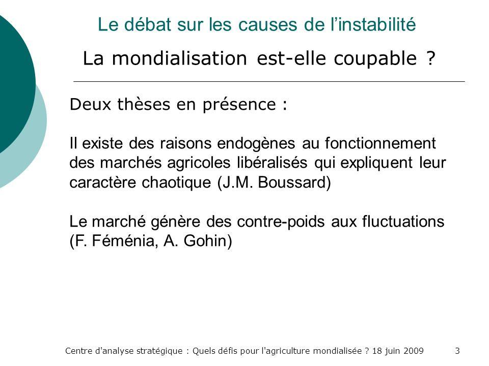 Le débat sur les causes de l'instabilité La mondialisation est-elle coupable