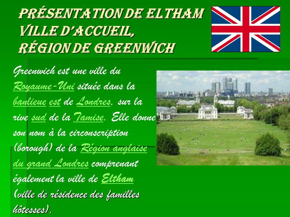 Présentation de Eltham Ville d'accueil, région de Greenwich
