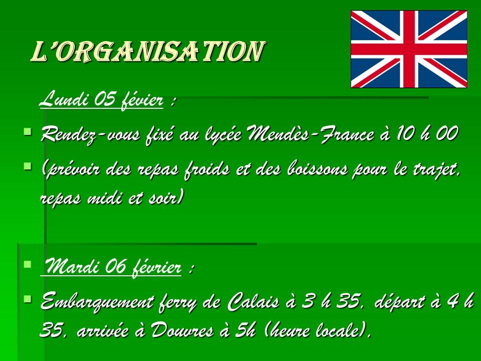 L'organisation Rendez-vous fixé au lycée Mendès-France à 10 h 00