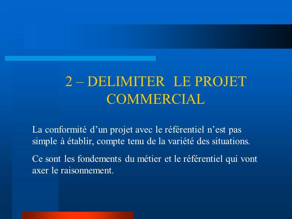 2 – DELIMITER LE PROJET COMMERCIAL