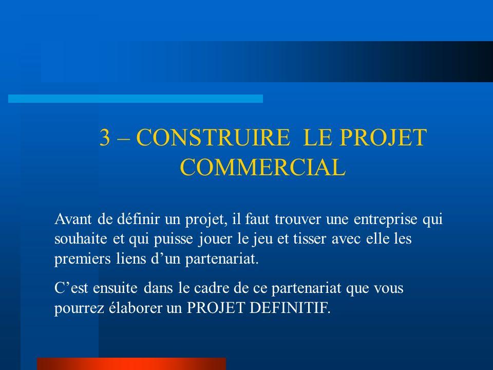 3 – CONSTRUIRE LE PROJET COMMERCIAL