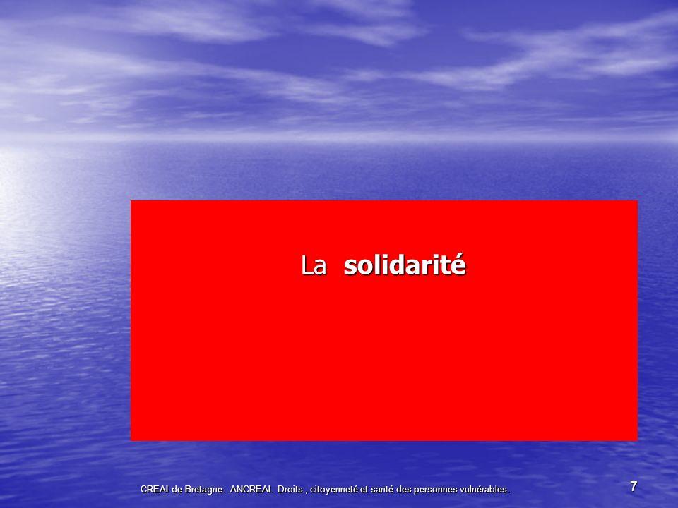 La solidarité CREAI de Bretagne. ANCREAI.