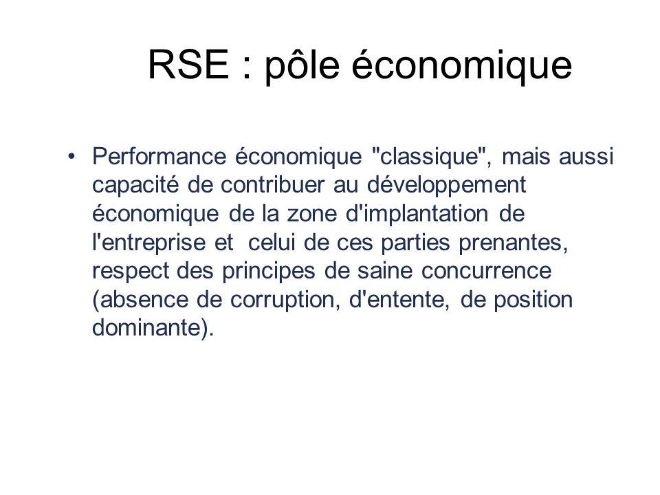 RSE : pôle économique