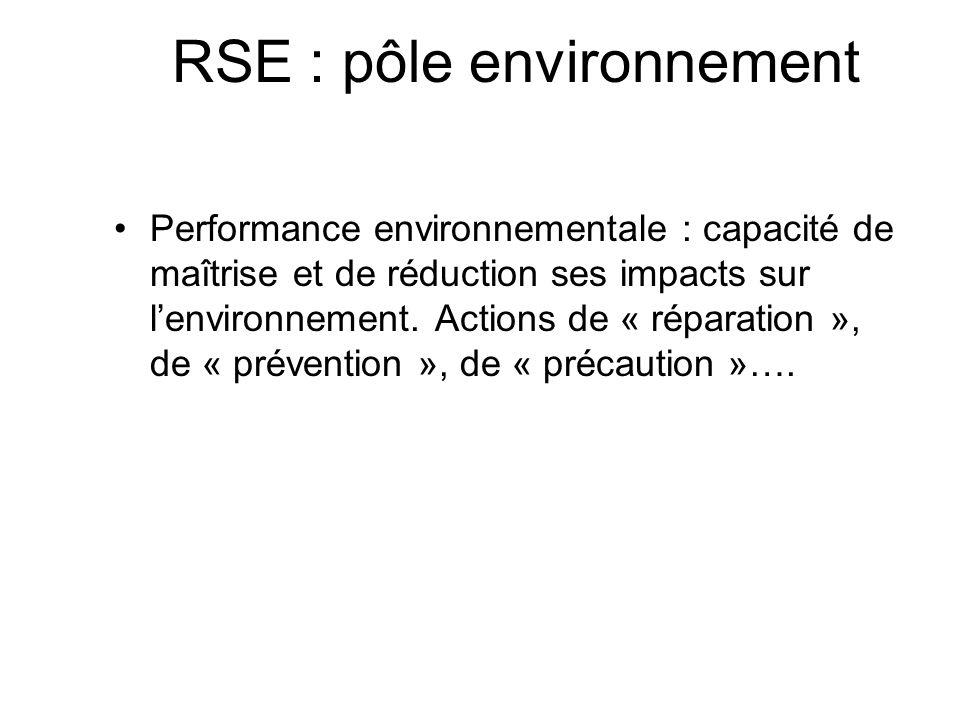 RSE : pôle environnement