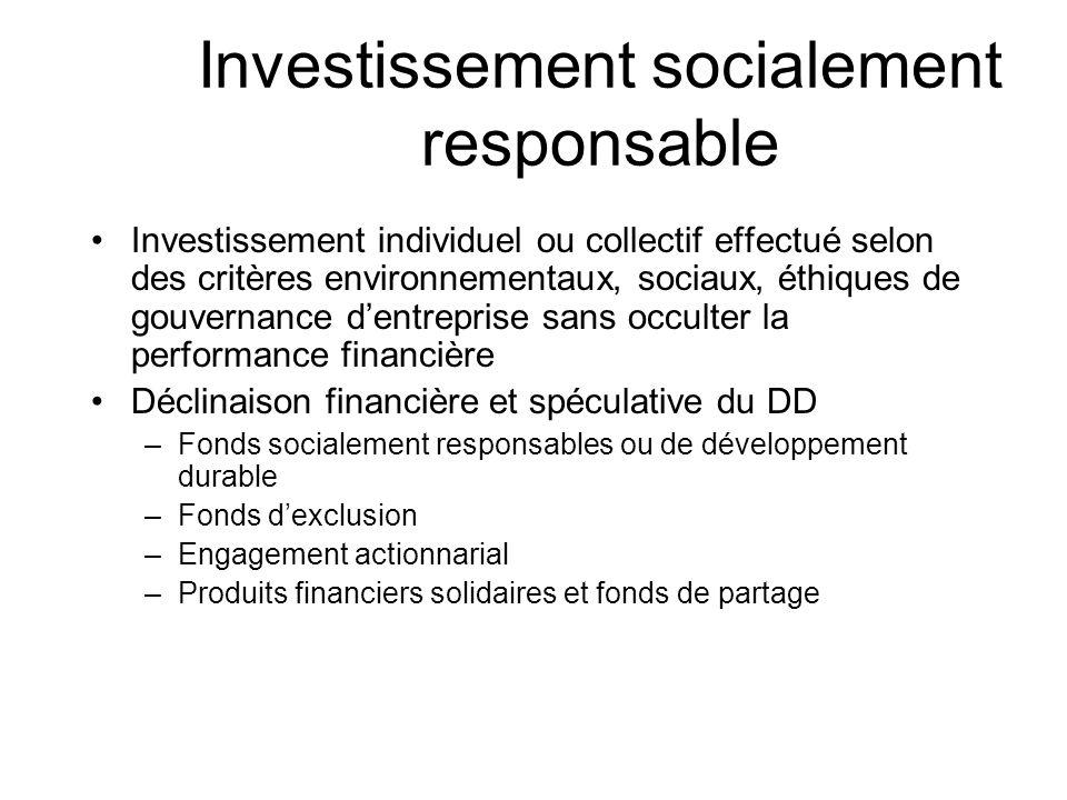 Investissement socialement responsable