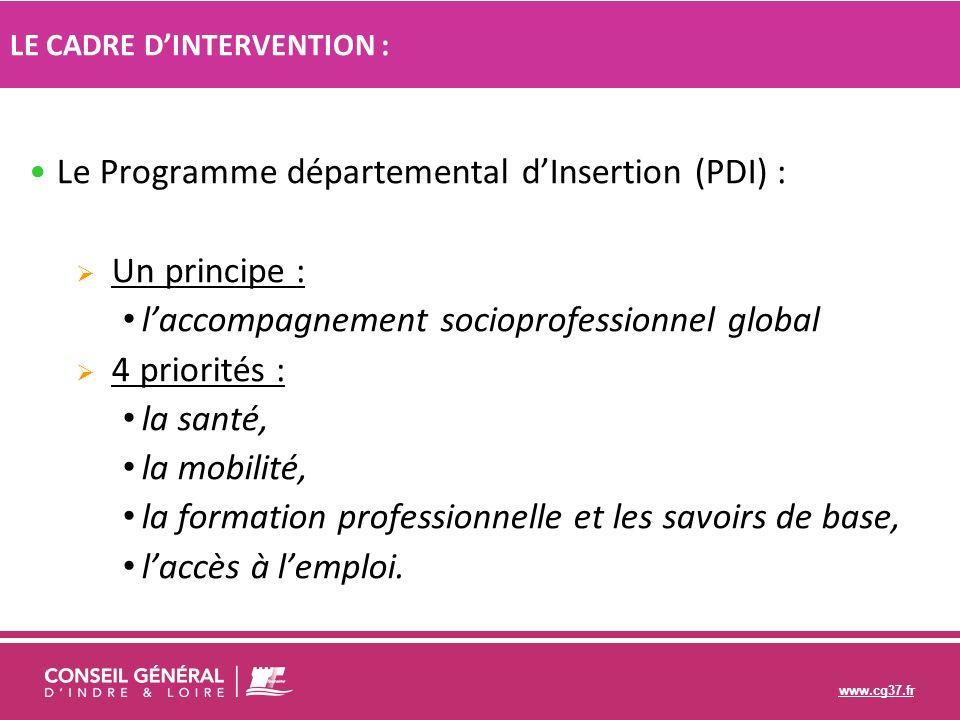 Le Programme départemental d'Insertion (PDI) : Un principe :