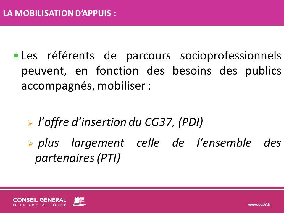 l'offre d'insertion du CG37, (PDI)