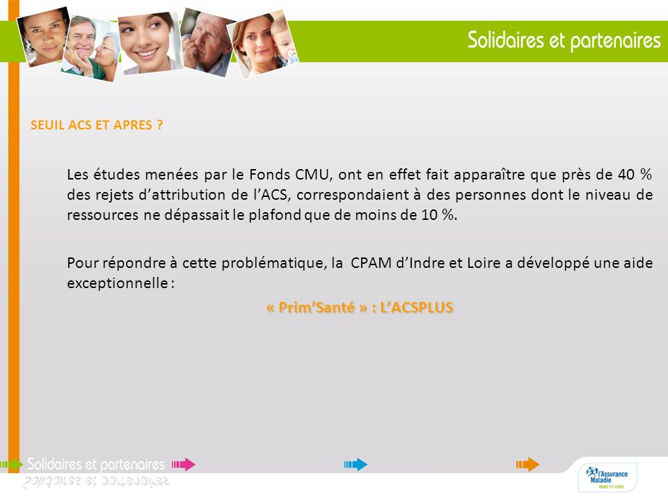 « Prim'Santé » : L'ACSPLUS