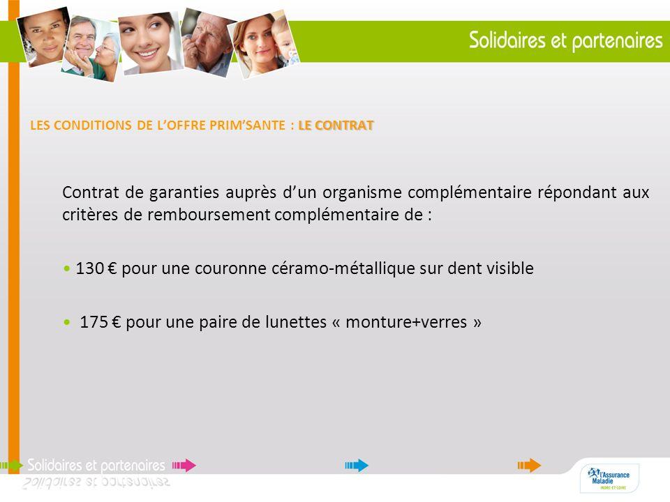 LES CONDITIONS DE L'OFFRE PRIM'SANTE : LE CONTRAT