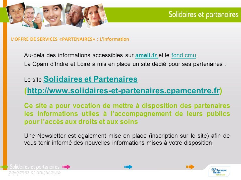 L'OFFRE DE SERVICES «PARTENAIRES» : L'information