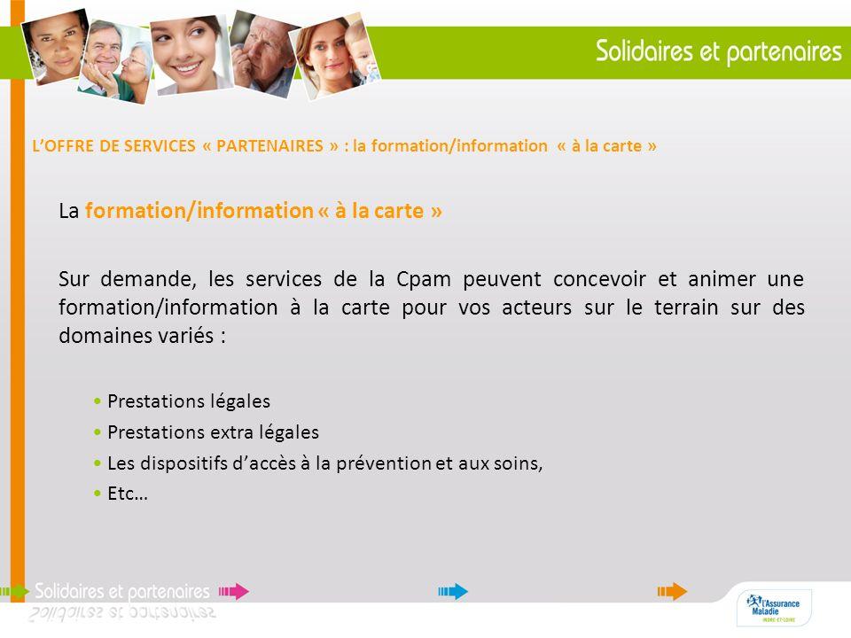 La formation/information « à la carte »