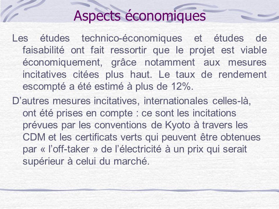 Aspects économiques