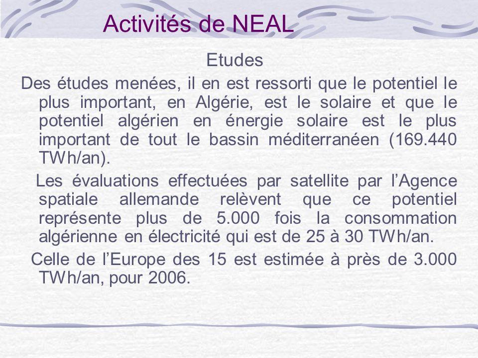 Activités de NEAL Etudes