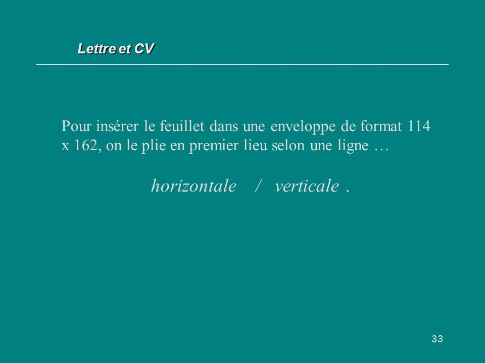 horizontale / verticale .